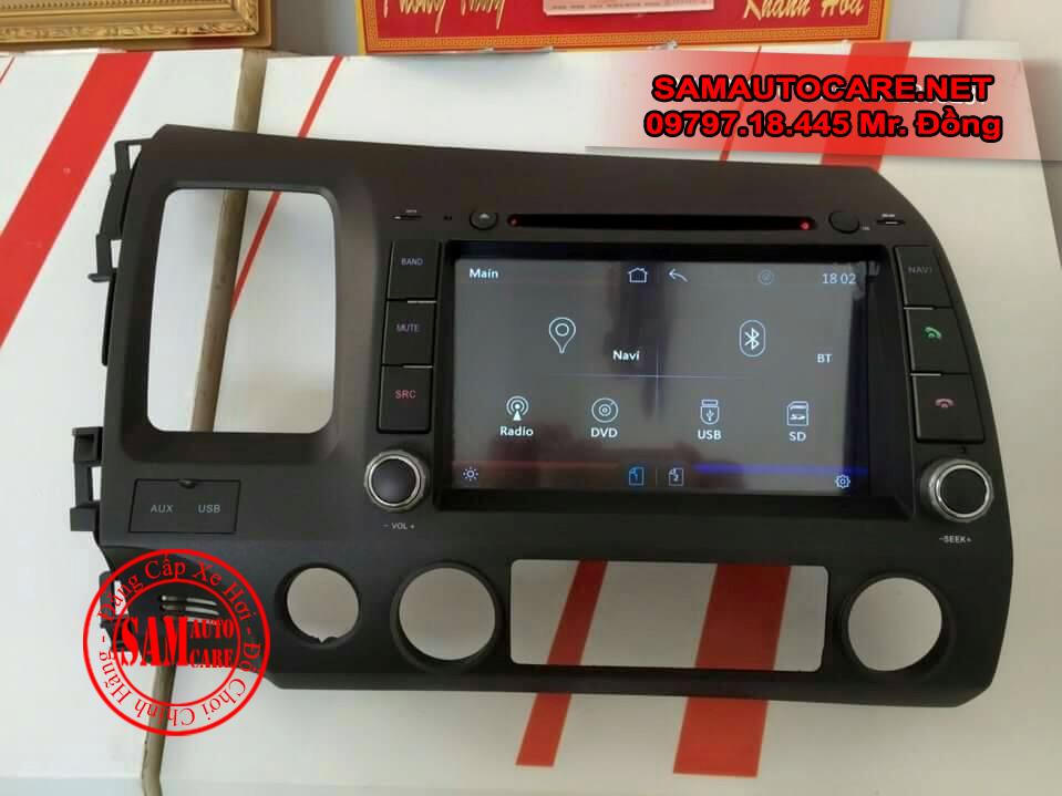 DVD Honda Civic 2007-2011 Có định Vị Hiệu Winca S100 Và S90