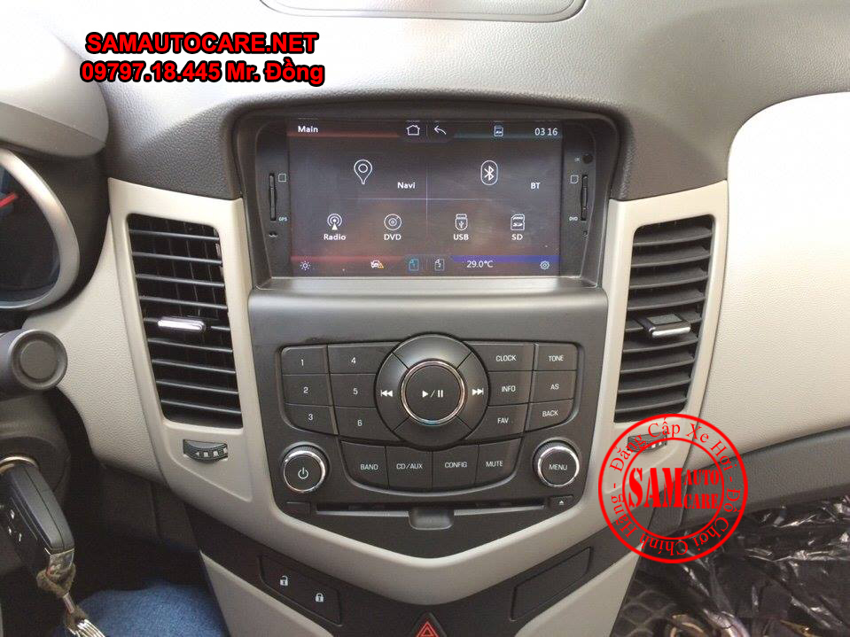 Màn Hình DVD Worca S90 Cho Xe  Chevrolet Cruze