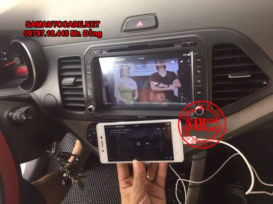Màn Hình DVD Worca S90 Cho Xe Kia Morning