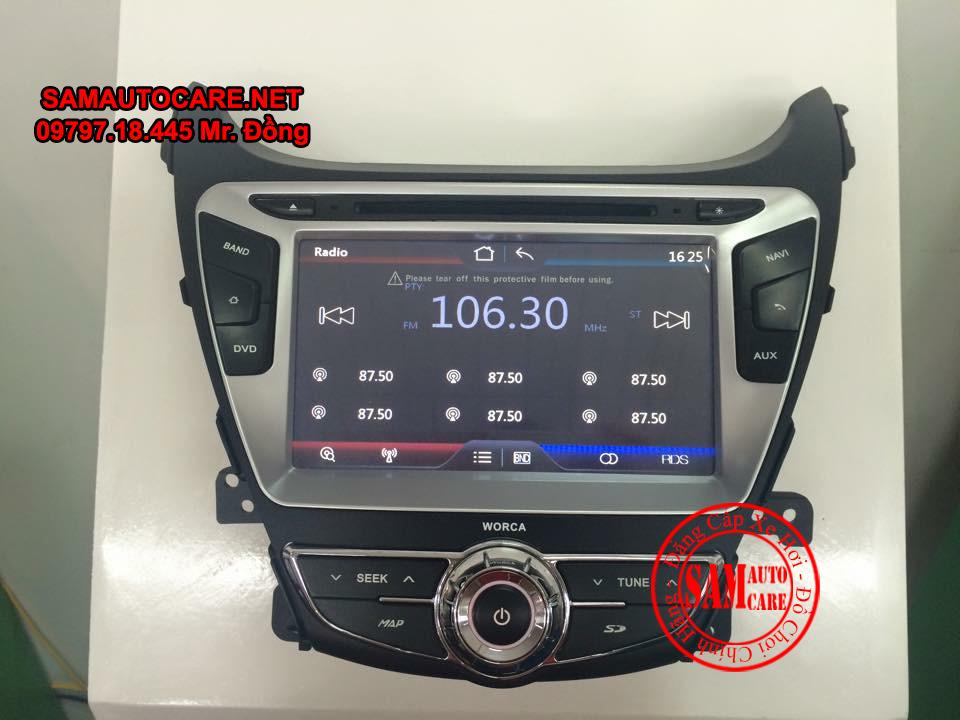Màn Hình DVD Worca S90 Cho Xe  Hyundai Elantra