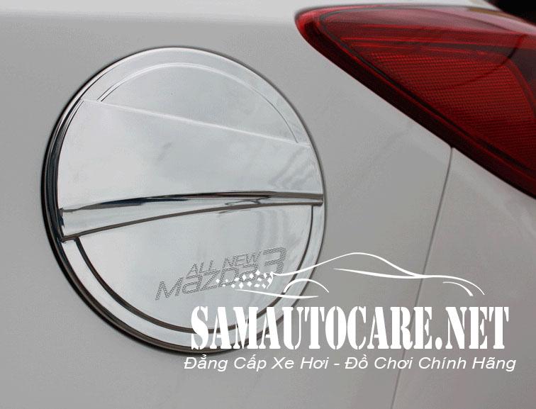 Ốp Nắp Xăng Inox Mazda 3