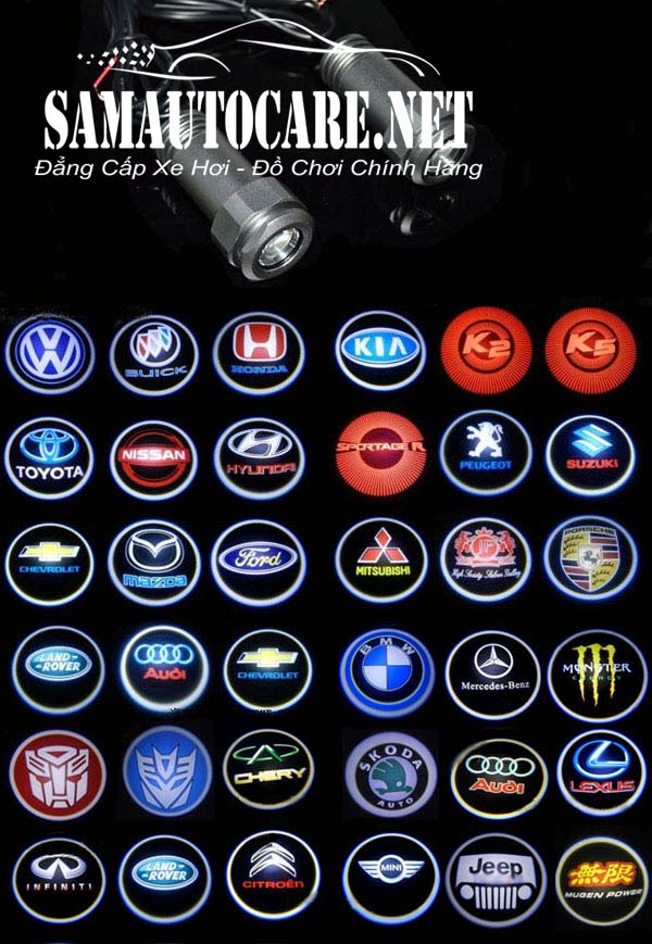 đèn Led Chiếu Logo Hãng Xe ô Tô