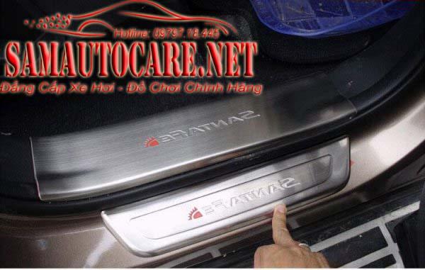 Nẹp Bước Chân Chống Trầy Hyundai Santafe 2015 - Không đèn