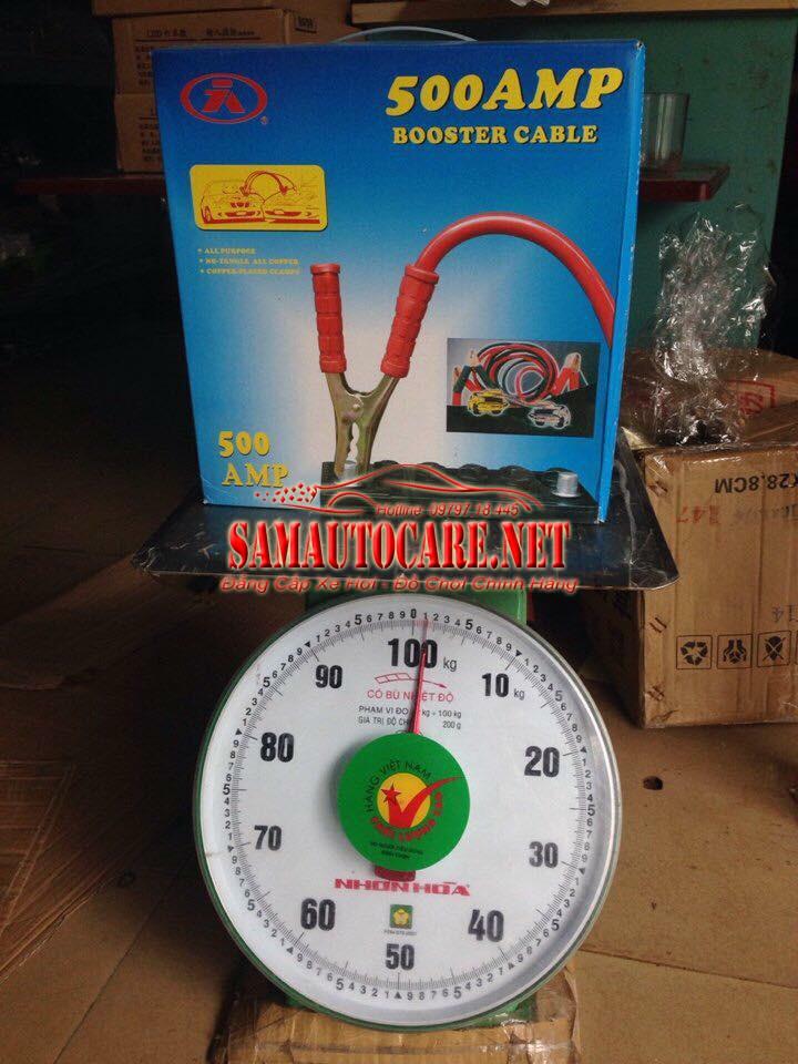 Bộ Dây Câu Sạc Bình ắc Quy  500AMP 1,2kg
