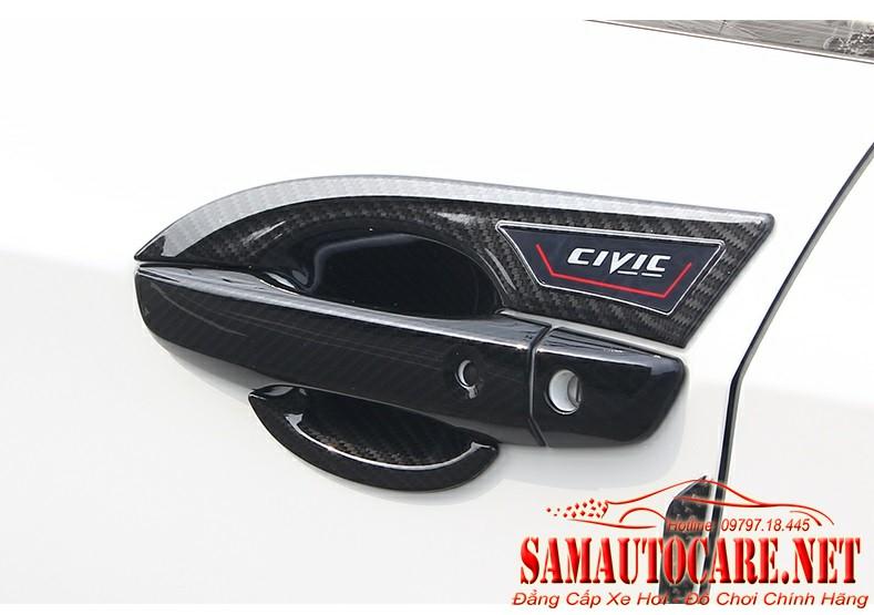 Chén Cửa Cacbon Xe Honda Civic 2017