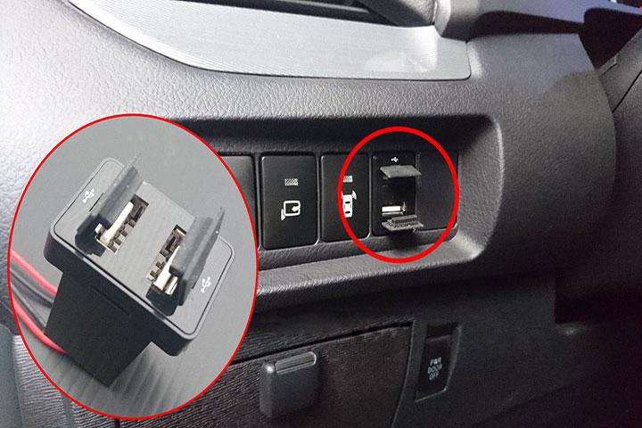 Cổng Sạc USB Cho TOYOTA (2 Cổng)