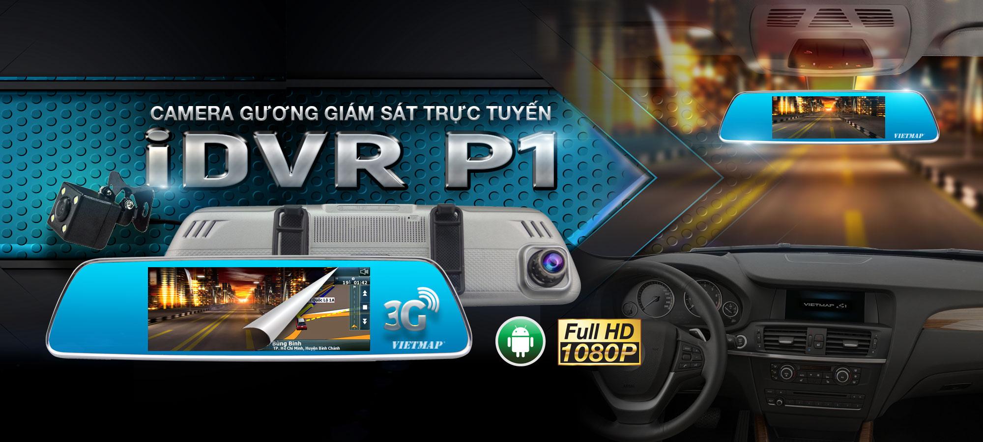 Vietmap IDVR P1 - Camera Hành Trinh Gương Giám Sát Từ Xa