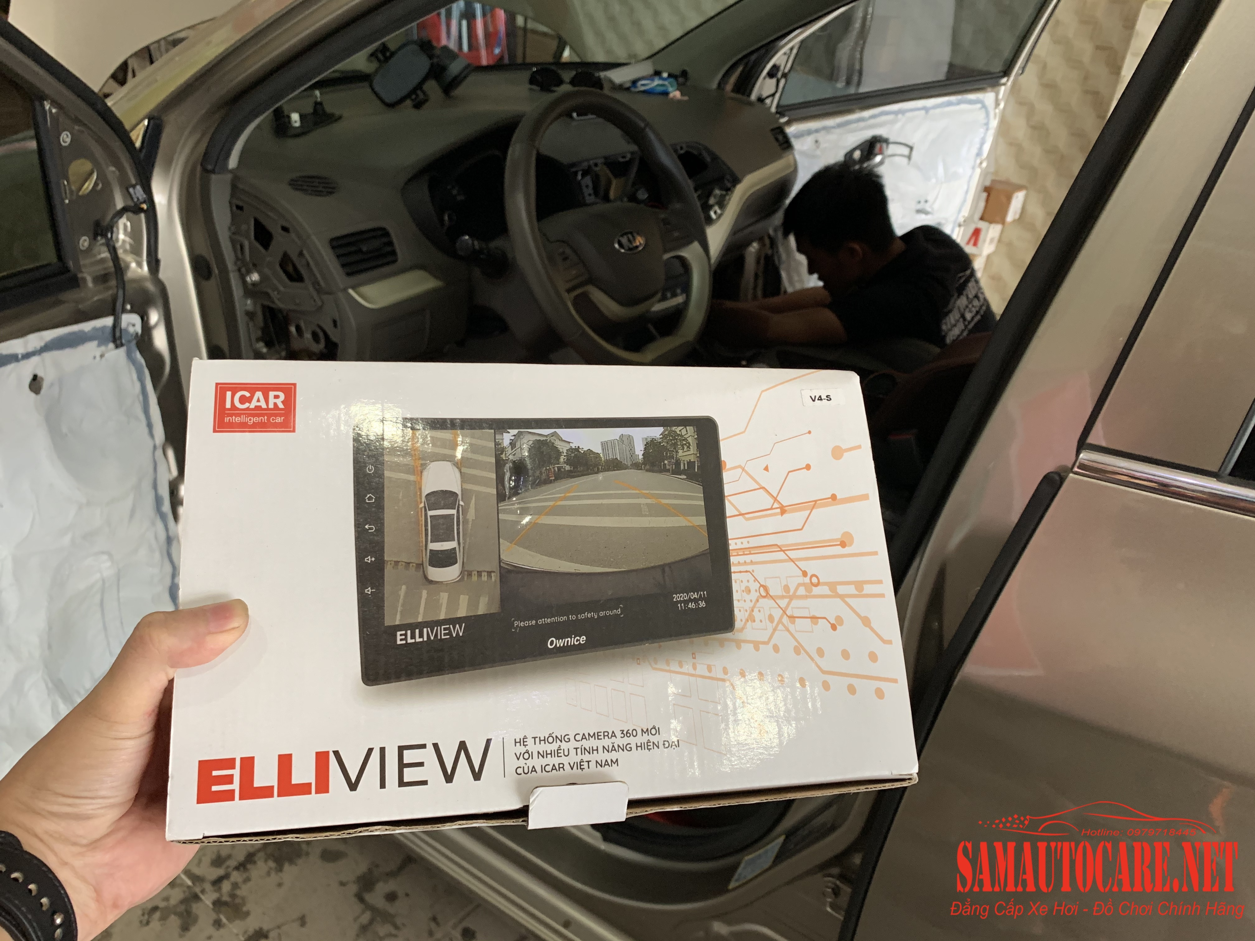 Camera 360 Độ 3D Eliview V4 Cho Kia Morning