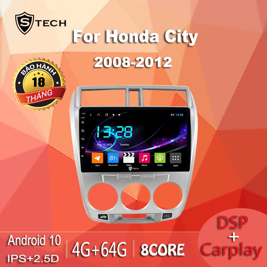 Màn Hình Android Stech S600 Xe Honda City 2012