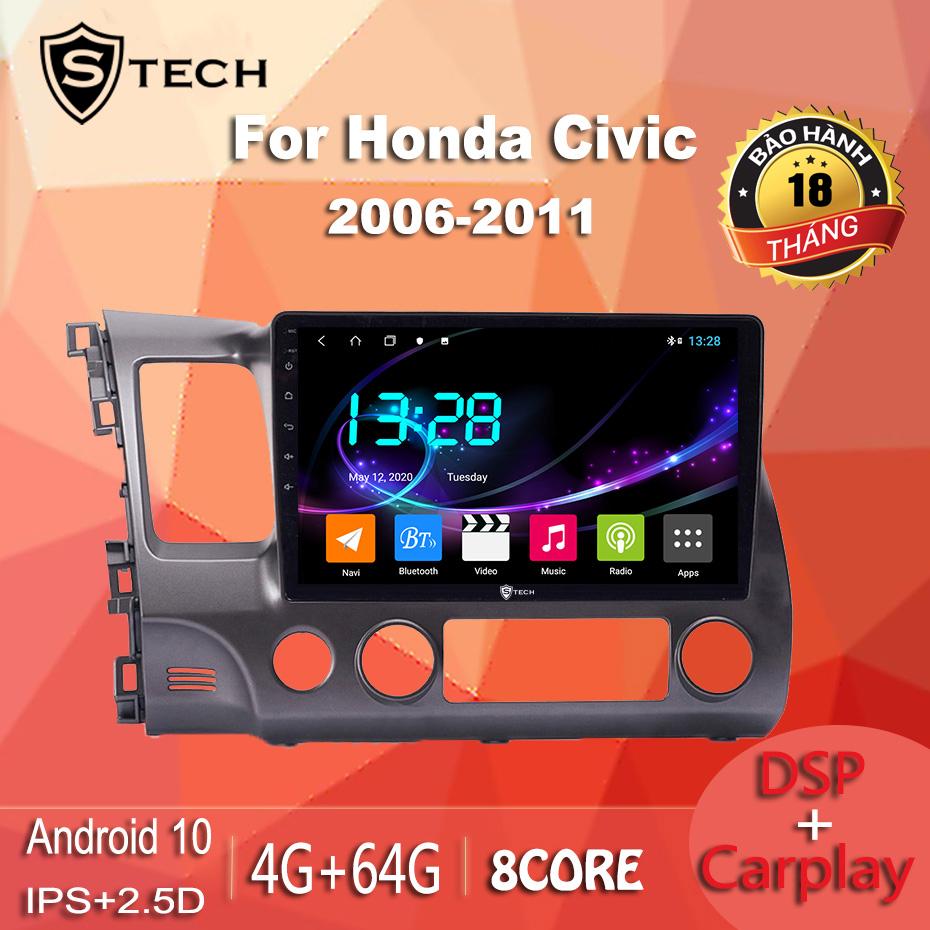 Màn Hình Android Stech S600 Xe Honda Civic 2010