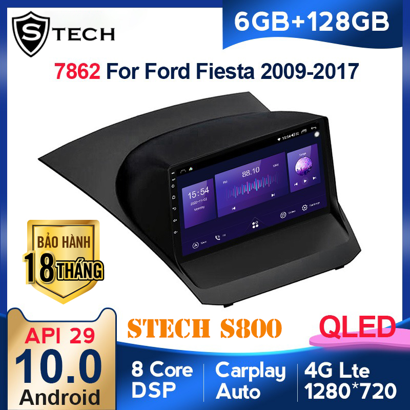 Màn Hình Android Stech S800 Xe Ford Fiesta