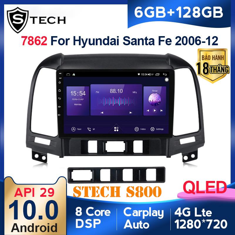 Màn Hình Android Stech S800 Xe Hyundai Santafe 2012