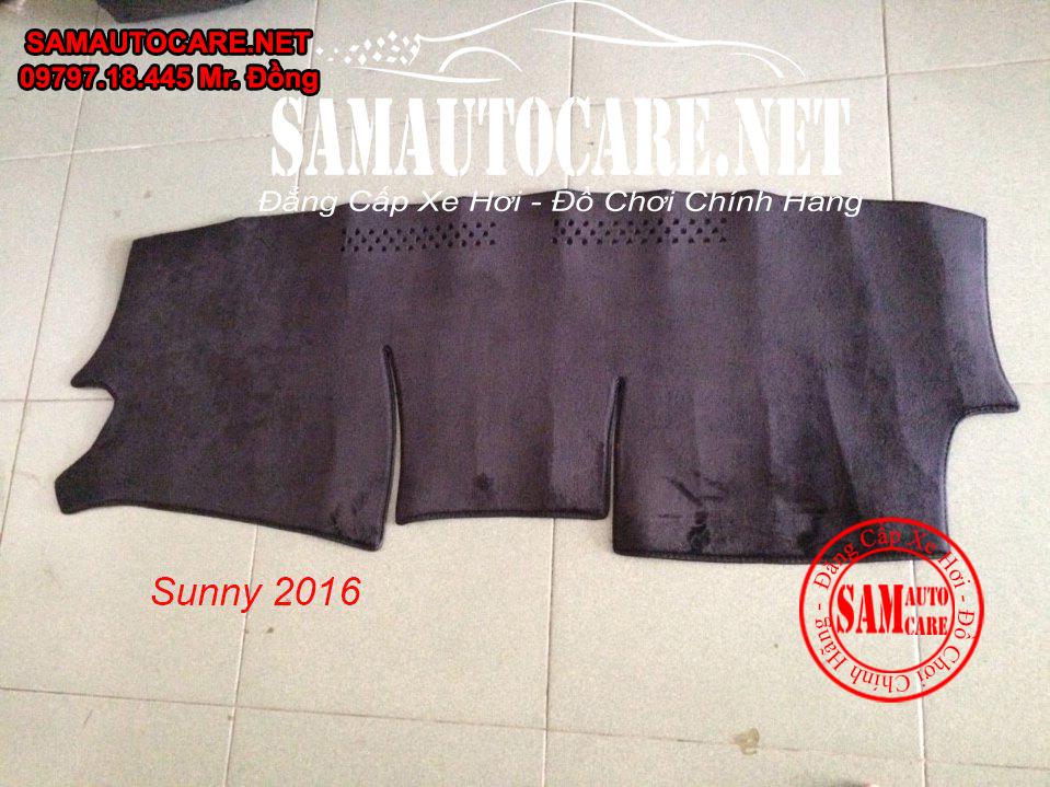 Thảm Taplo Lông Cừu Korea Xe  Nissan Sunny 2016