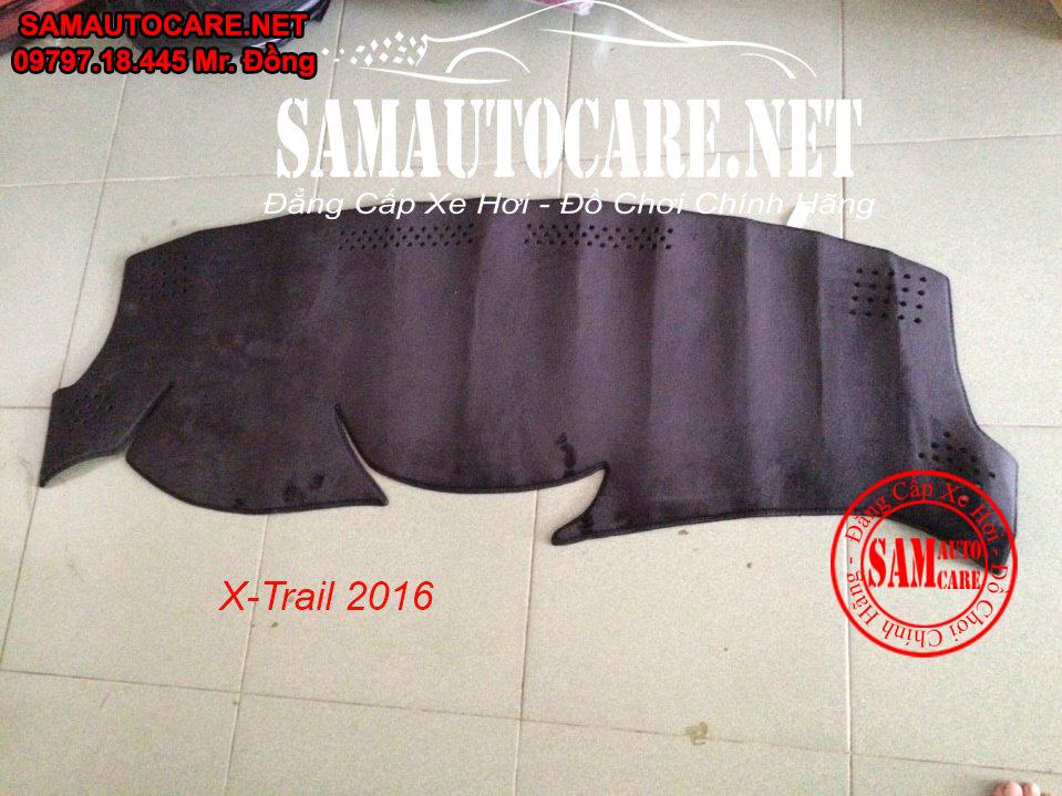 Thảm Taplo Lông Cừu Korea Xe  Nissan X-Trail 2016