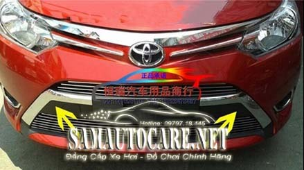 ốp Thanh Trước Mạ Toyota Vios 2015