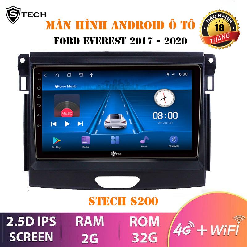 Màn Hình Android Stech S200 Cho Ford Ranger Everest 2018-2020