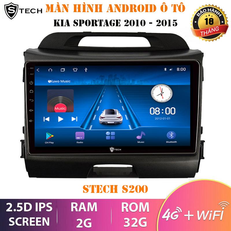 Màn Hình Android Stech S200 Kia Sportage 2010-2015