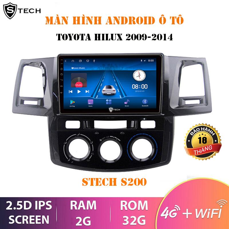 Màn Hình Android Stech S200 Toyota Hilux 2009-2014