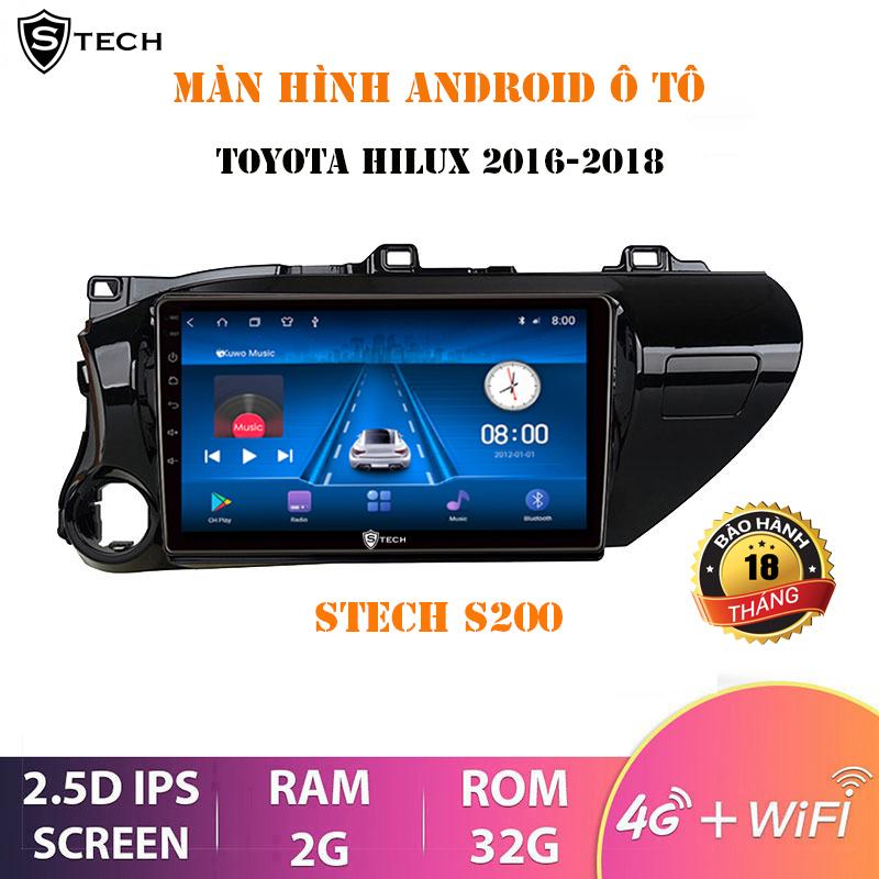 Màn Hình Android Stech S200 Toyota Hilux 2018