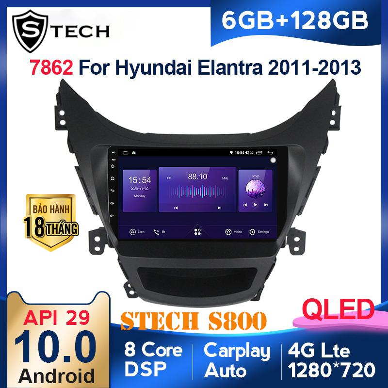 Màn Hình Android Stech S800 Xe Hyundai Elantra 2014
