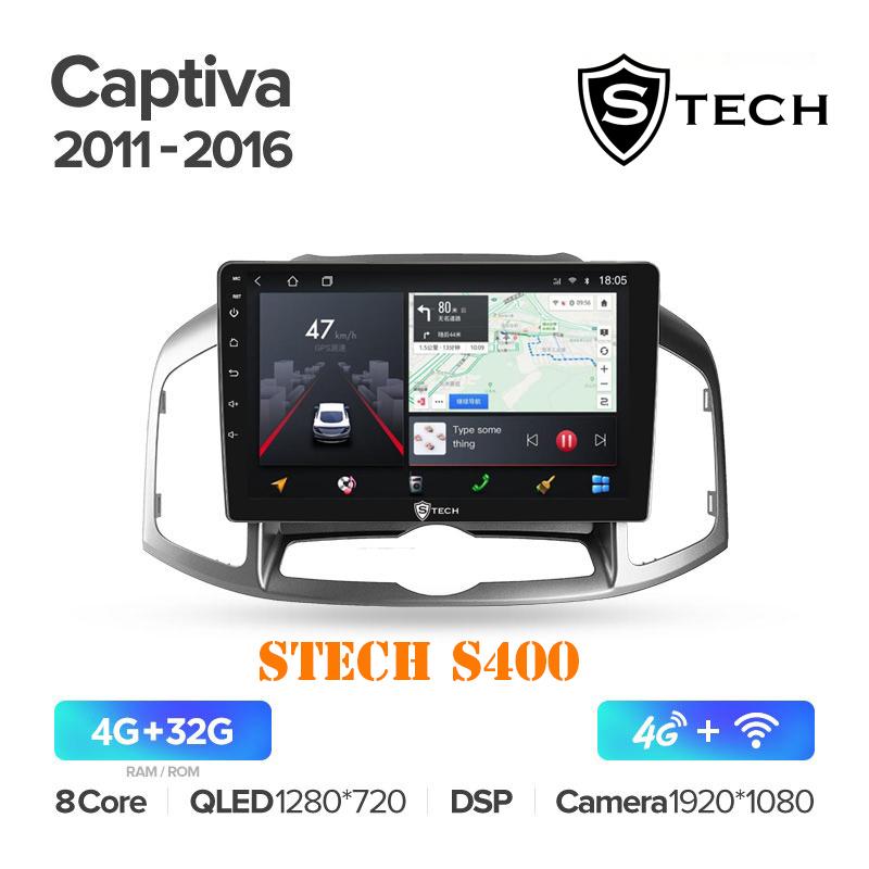 Màn Hình Android S400 Cho Xe Chevrolet Captiva 2011 - 2016