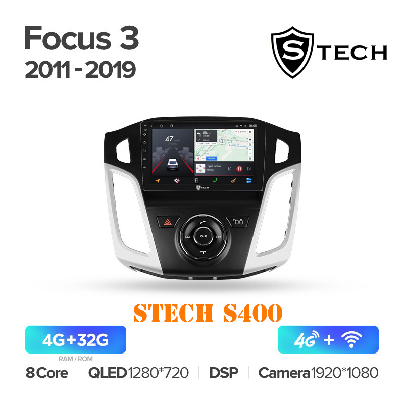 Màn Hình Android S400 Cho Xe Ford Focus 2011 - 2019