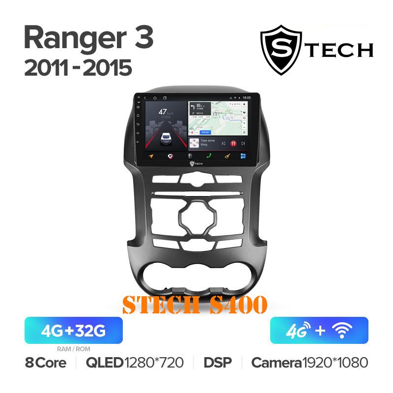 Màn Hình Android S400 Cho Xe Ford Ranger 2011 - 2015