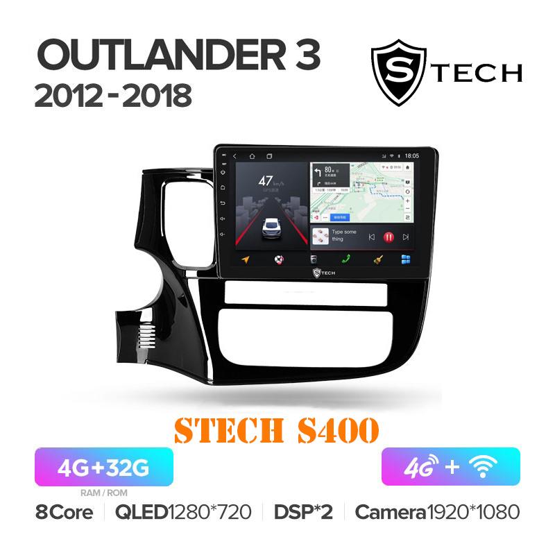 Màn Hình Android S400 Cho Xe Mitsubishi Outlander 2012 - 2018