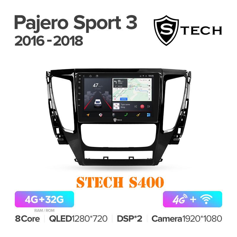 Màn Hình Android S400 Cho Xe Mitsubishi Pajero Sport 2016 - 2018
